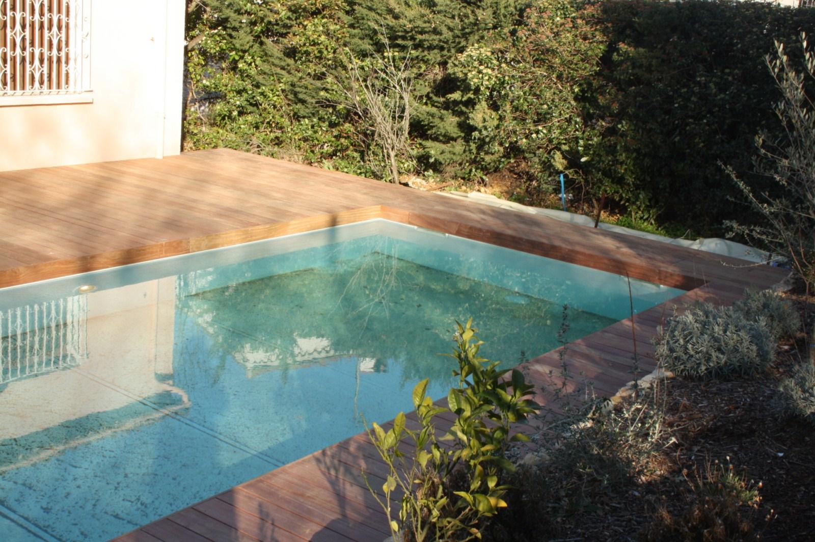 Tour de piscine en bois exotique cumaru six fours les plages var les terrasses du bois - Tour de piscine en bois ...
