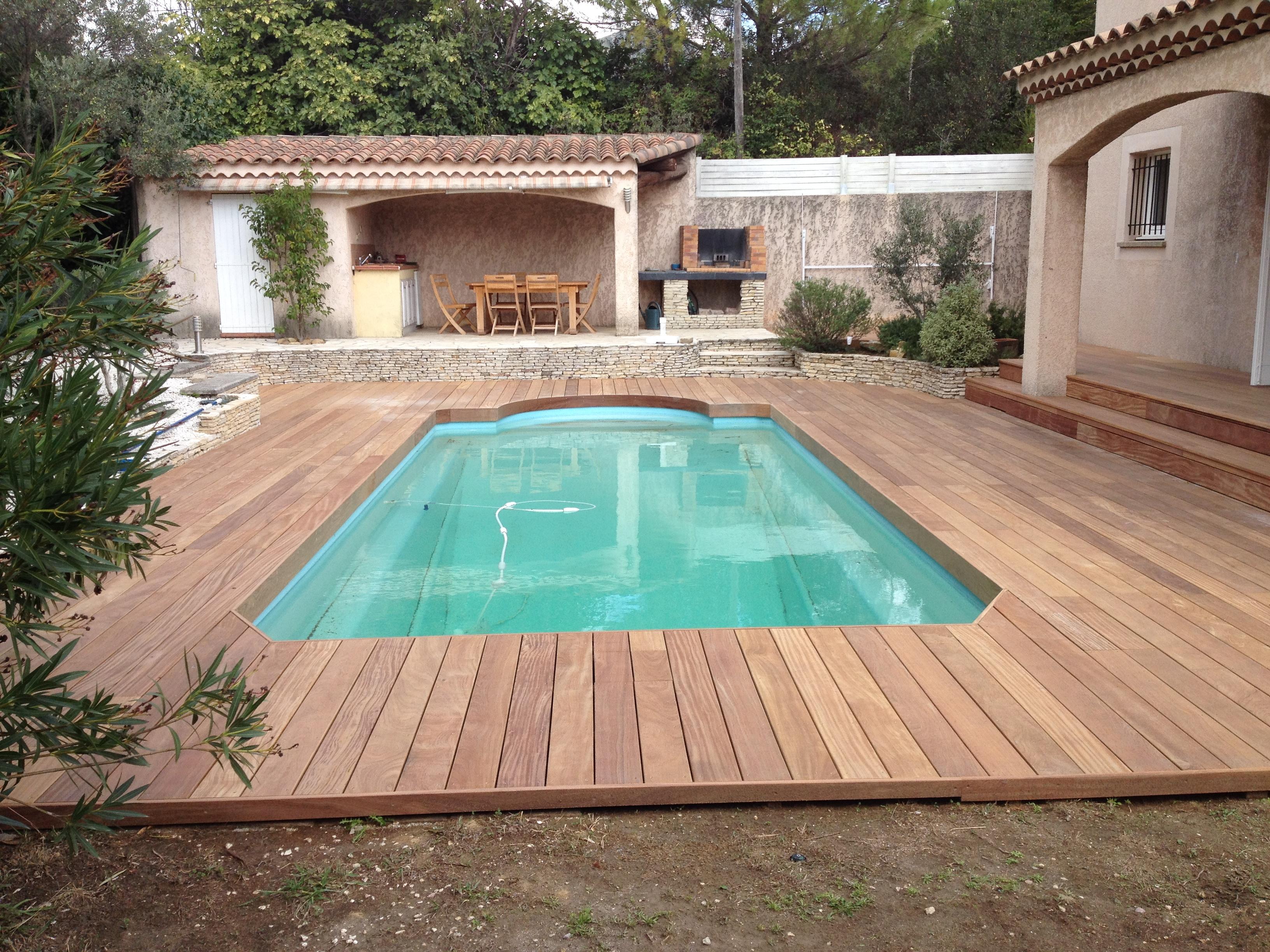 Piscine Bois Avec Terrasse tour de piscine avec extension terrasse en cumaru à allauch